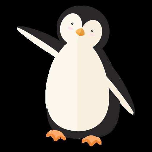 Penguin fat beak wing flat Transparent PNG