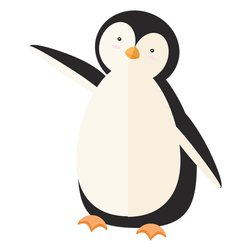 Pingüino gordo pico ala plana