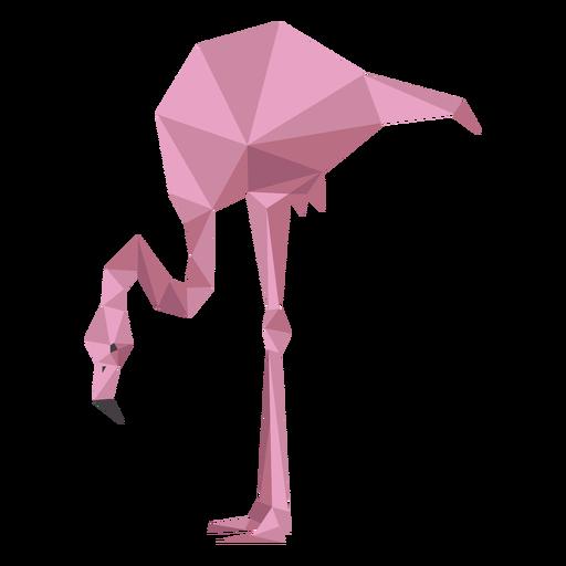 Pink flamingo leg beak low poly