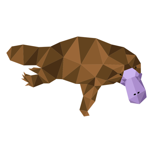 Platypus beak duckbill leg tail low poly Transparent PNG