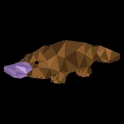 Cola de pato pico de ornitorrinco baja poli