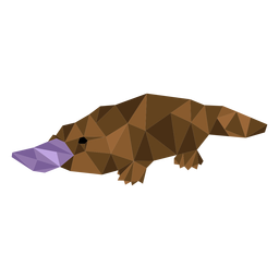 Platypus beak duckbill tail low poly