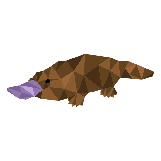 Platypus beak duckbill tail low poly Transparent PNG