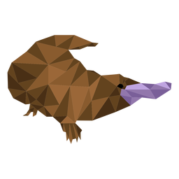 Platypus duckbill beak leg tail low poly