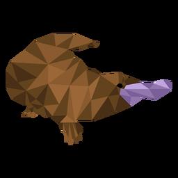 Platypus duckbill beak leg tail low poly