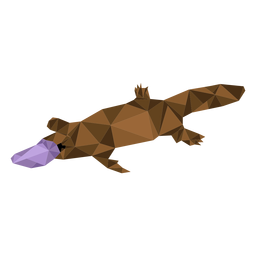Platypus tail beak duckbill low poly