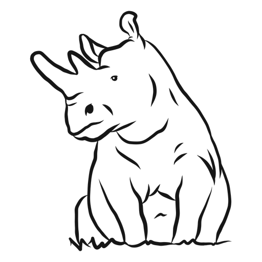 Bosquejo de rinoceronte cuerno rinoceronte hierba Transparent PNG