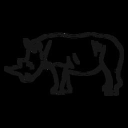 Boceto de rinoceronte cuerno de rinoceronte