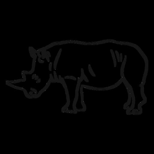 Rhinoceros horn rhino sketch Transparent PNG