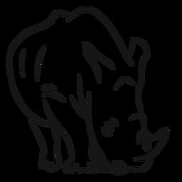Rhinoceros rhino horn sketch