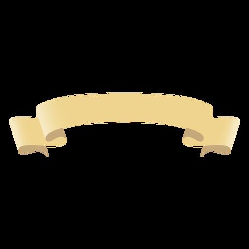 Roll scroll ribbon flat