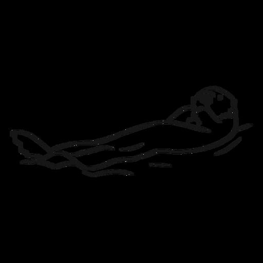 Dibujo de natación hocico bozal de mar Transparent PNG