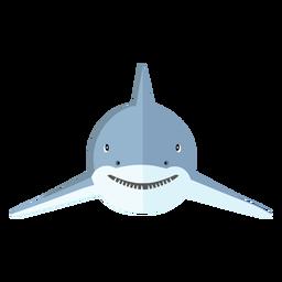 Diente de aleta de tiburón plana
