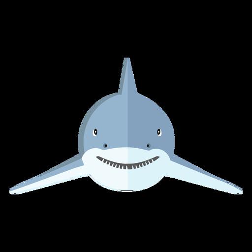 Diente de aleta de tiburón plana Transparent PNG