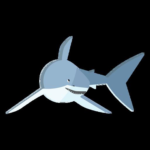 Diente de aleta cola de tiburón plana Transparent PNG