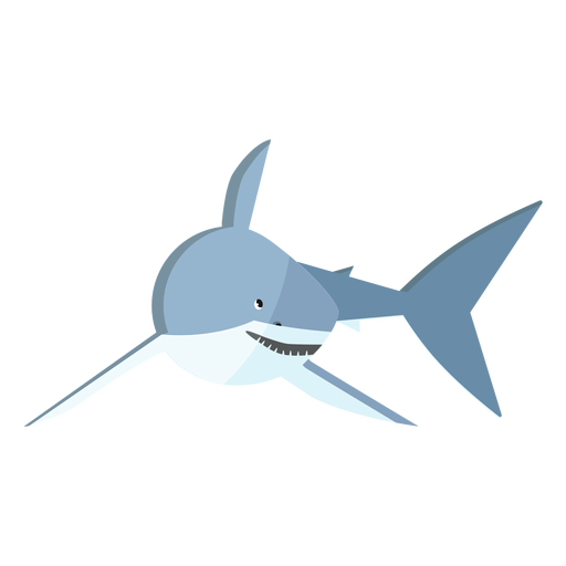 Shark tail fin tooth flat Transparent PNG