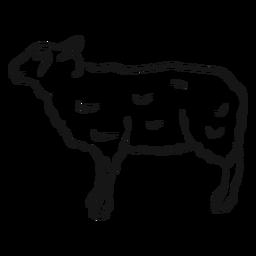 Esboço de cordeiro de lã casco de ovelha