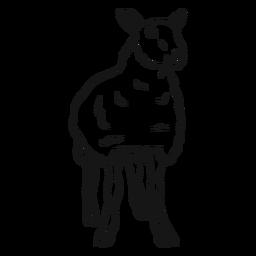 Bosquejo de pezuña de oveja oveja lana
