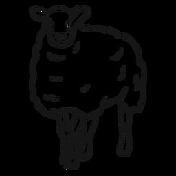 Bosquejo de pezuña de oveja lana cordero
