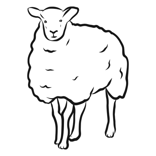 Bosquejo de pezuña de oveja lana cordero Transparent PNG