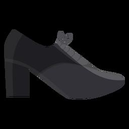 Shoe heel lace flat