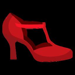 Schuh Fersenriemen flach