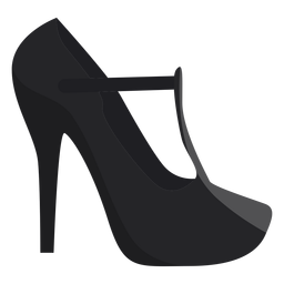 Sapato calcanhar toe plana