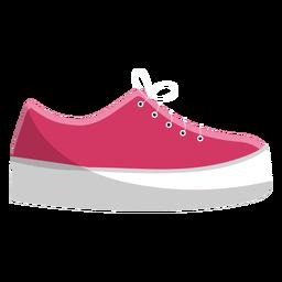 Zapato mocasín encaje ilustración