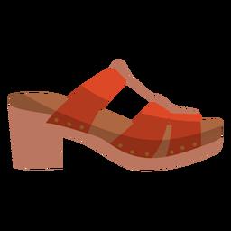 Shoe spot circle heel flat