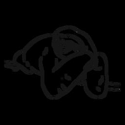 Dibujo de rama de garra de pereza