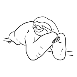 Esboço de ramo de garra de preguiça