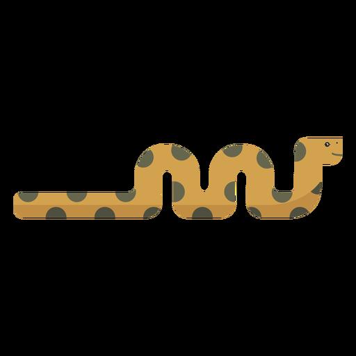 Reptil de serpiente largo trenzado plano Transparent PNG