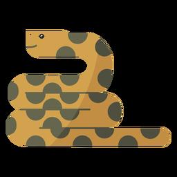 Reptil serpiente retorciéndose largo y plano