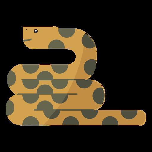 Reptil serpiente retorciéndose largo y plano Transparent PNG