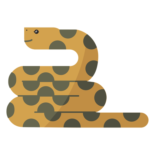 Snake reptile twisting long flat Transparent PNG