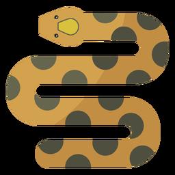 Serpiente retorciéndose plana