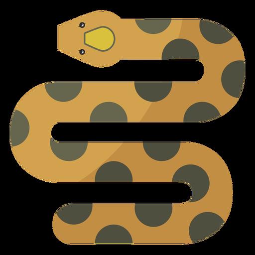 Serpiente retorciéndose plana Transparent PNG