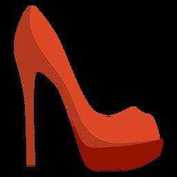Sapato de salto agulha de salto agulha liso