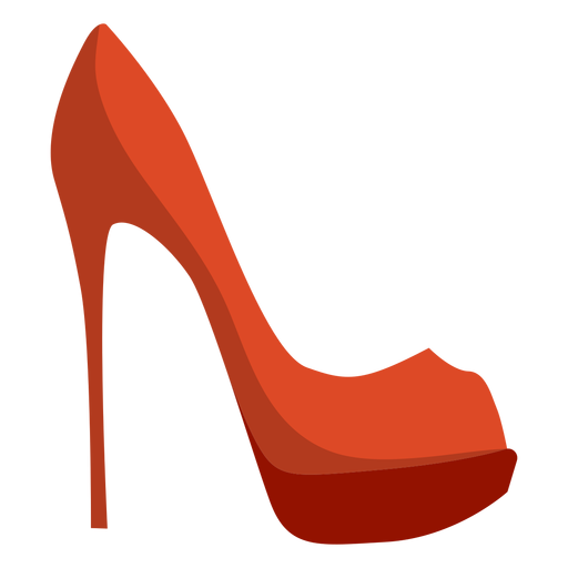 Spike heel stiletto heel shoe flat Transparent PNG