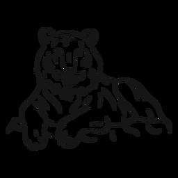 Esboço de peles listra tigre