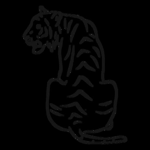 Tiger stripe tail sketch Transparent PNG