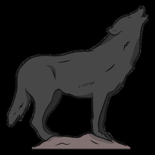 Wolf-Fleischfresser heulen Beinendstückillustration Transparent PNG