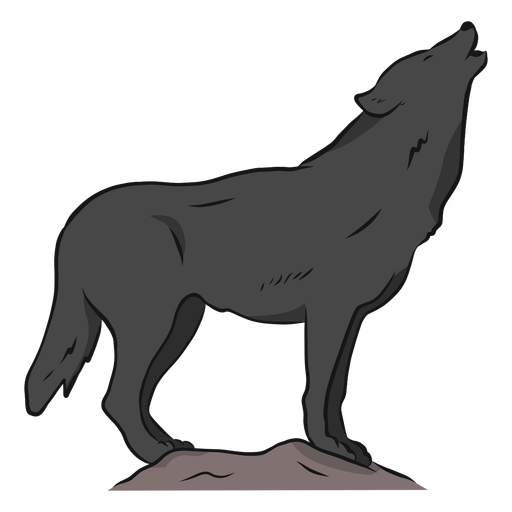 Wolf predator howl leg tail illustration Transparent PNG