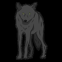 Ilustração de perna predador de lobo