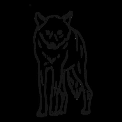Esboço de perna de predador de lobo Transparent PNG