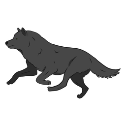 Wolf predator leg tail illustration