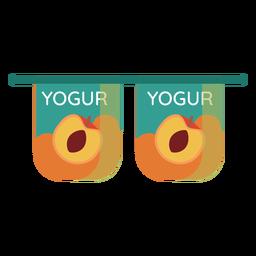 Joghurtpfirsich-Tassenpaar flach