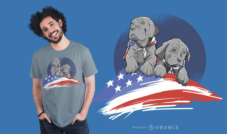 American Dog T-shirt Design