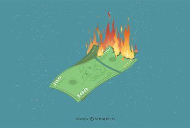 Vetor de contas em chamas