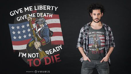 Projeto do t-shirt da morte da liberdade